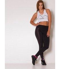 calça legging go fit rio preta com lateral cirrê
