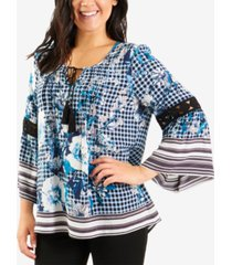 ny collection crochet-trim top