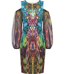 abito con cut-out e strass (blu) - bodyflirt boutique