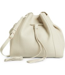 mulberry small millie leather tote - beige