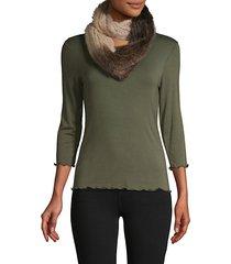 ombré mink fur infinity scarf