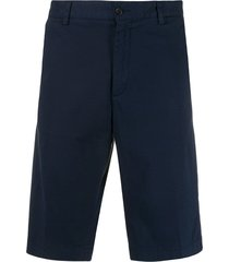 paul & shark straight-fit bermuda shorts - blue