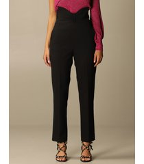 red valentino pants red valentino trousers with curled bow at the waist