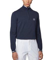boss men's zyrod dark blue sweater