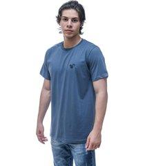 camiseta vitoriano classic - azul jumbo - azul - masculino - algodã£o - dafiti