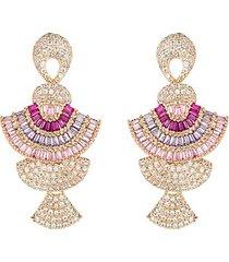 dolly 18k goldplated cubic zirconia drop earrings