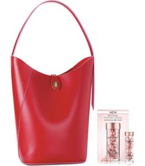 receive a free red tote bag and 7-day retinol ceramide capsules with any $74 elizabeth arden fragrance purchase