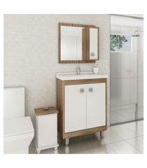 gabinete para banheiro branco argel 2 portas lilies móveis