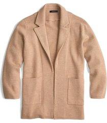women's j.crew new lightweight sweater blazer, size xx-large - beige