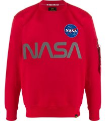 alpha industries nasa reflective sweatshirt - red