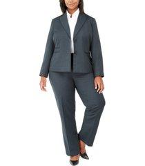 le suit plus size pinstripe two-button pant suit