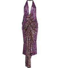 purple sequined dress