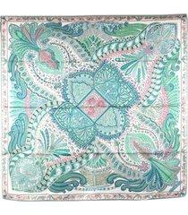 hermes le jardin de la maharani silk scarf green, multi sz: