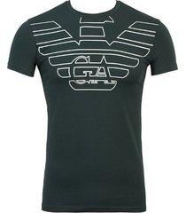 emporio armani heren logo t-shirt - donkergroen