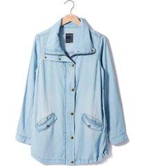 chaqueta tencel para mujer rosé pistol - azul