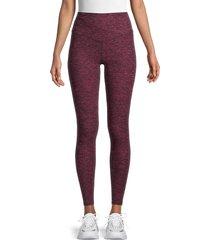 nine west women's high-rise leggings - sangria black - size l