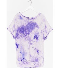womens bright ideas relaxed tie dye tee - lilac
