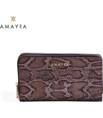 billetera marrón mujer amayra fit