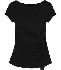4303 moon top short sleeve with bow
