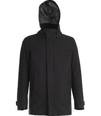 herno hooded zip coat