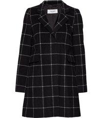 outdoorjacket wool wollen jas lange jas zwart gerry weber