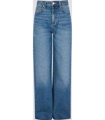 jeans med vida ben - blå