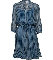 dresses light woven kort klänning blå esprit casual