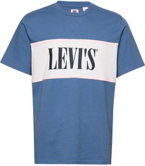 authentic colorblock tee authe t-shirts short-sleeved blå levi´s men