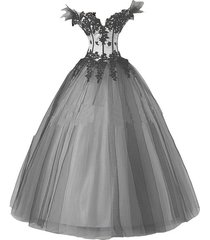 kivary women's white and black gothic wedding dresses ball gown us 4