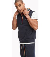 tommy hilfiger women's pride sleeveless hoodie sky captain - xxxl