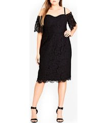 plus size women's city chic lace whisper dress