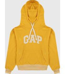 buzo amarillo-blanco gap