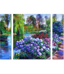 "david lloyd glover 'promise of spring' multi panel art set large - 25"" x 30"" x 2"""