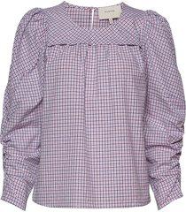 eleanor blouse lange mouwen paars munthe