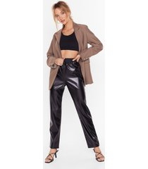 womens all i faux leather need high-waisted pants - black