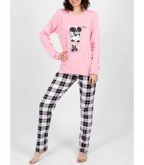 pyjama's / nachthemden admas be confident roze pyjamabroek