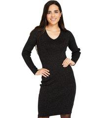 vestido brillos negro nicopoly