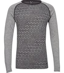 geo merino wool crew base layer tops grijs bula