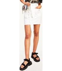 tommy hilfiger women's organic cotton tie-waist skirt white - m