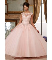 new applique cap sleeve ball gowns prom party wedding formal quinceanera dress