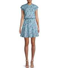 rebecca minkoff women's ollie floral mini dress - size l