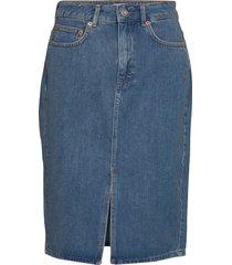 reem denim 1&2 hw pencil skirt knälång kjol blå french connection