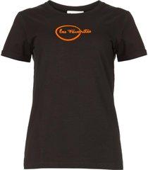 logo t-shirt bobbi  zwart