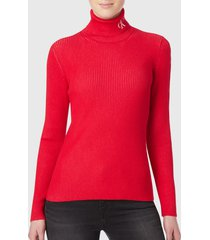 sweater calvin klein jeans rojo - calce slim fit