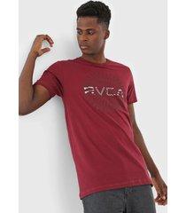 camiseta rvca mayday big vinho - vinho - masculino - dafiti
