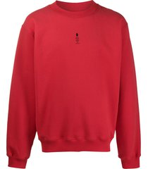 styland not rain proof printed sweatshirt - red