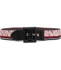 missoni knitted stripe belt - red