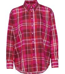 d1. colorful check exb shirt overhemd met lange mouwen roze gant