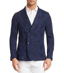modern knit double-breasted sweater jacket