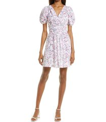 french connection flores dress, size 4 in summer white multi at nordstrom